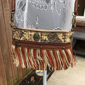 Sakroots Fringe Crossbody Owl Bag